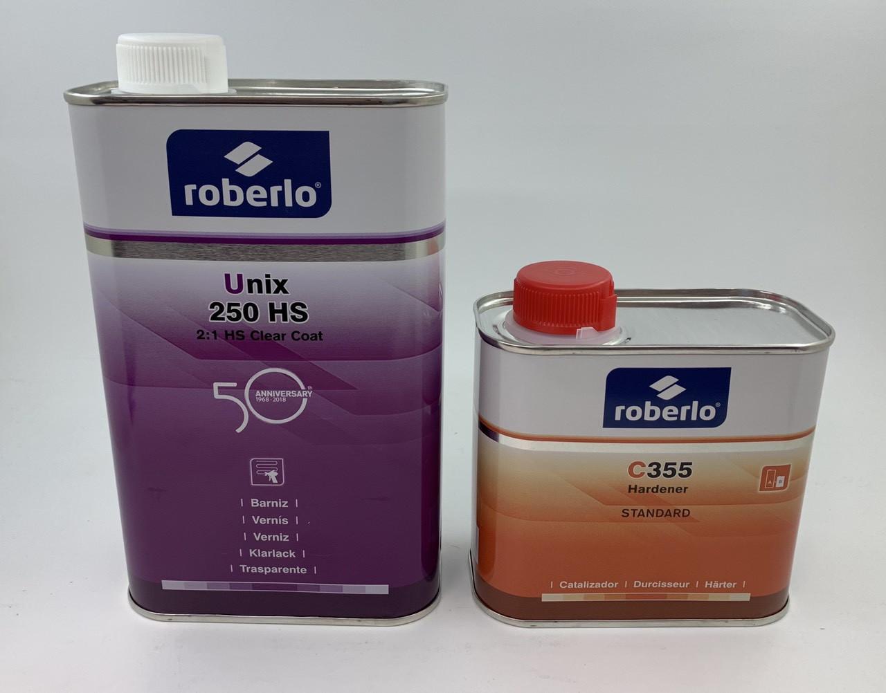 Лак акриловый HS250 ROBERLO ELITE 1л + отвердитель C355 0,5л