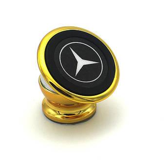 Магнитный держатель в авто. Золотой