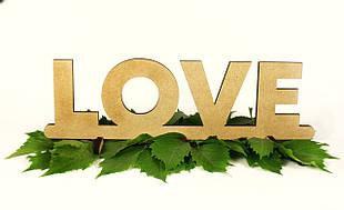 """Слово деревянное """"Love"""""""