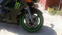 Флуоресцентные полосы на колесные диски