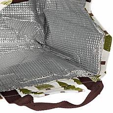 Сумка для еды со слоем фольги внутри для сохранения температуры.Ёлочки, фото 2