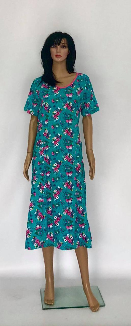 Трикотажное летние женское платье с рукавом