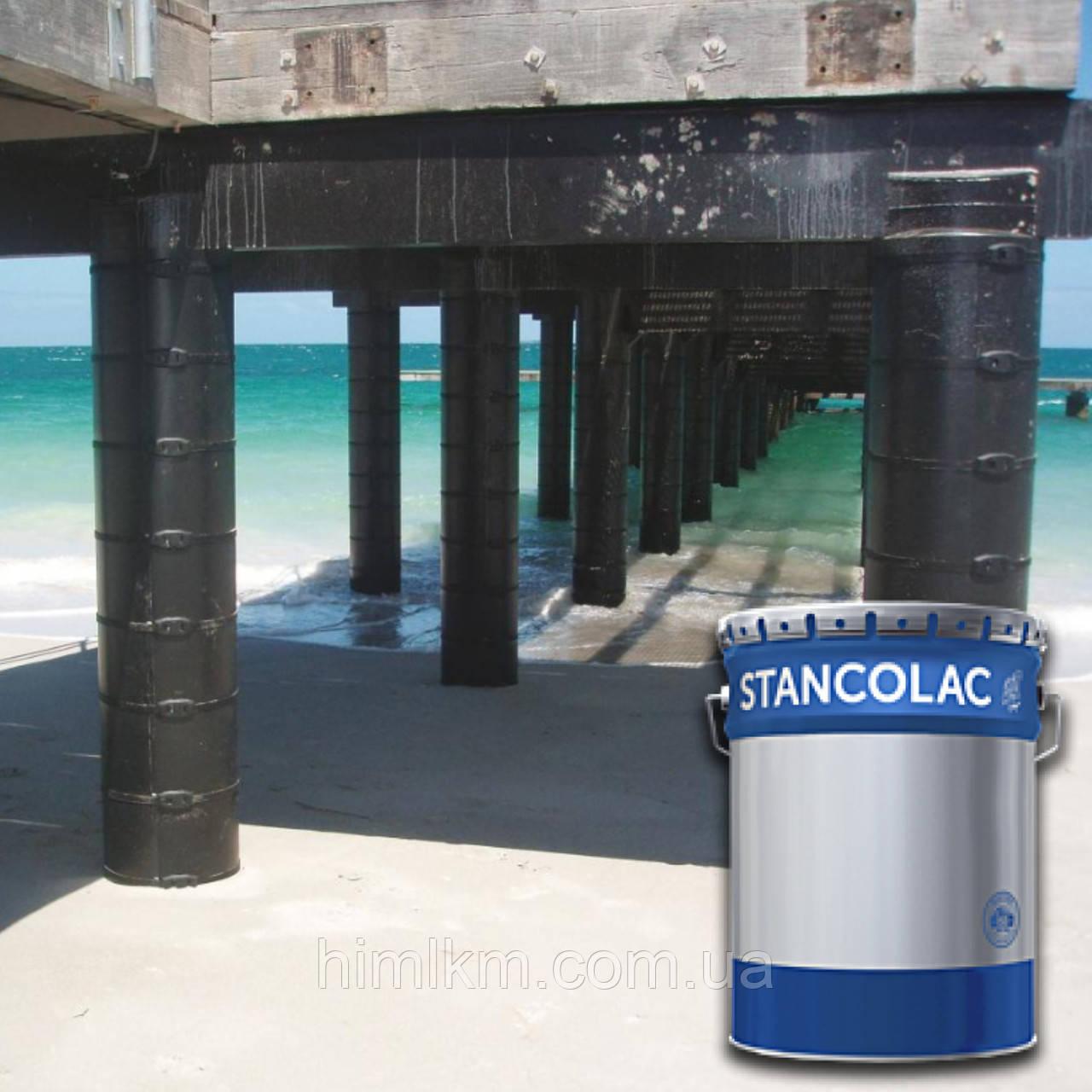 Краска 960 по бетону и металлу каменноугольная для подземных и подводных металлоконструкций, свай, цистерн