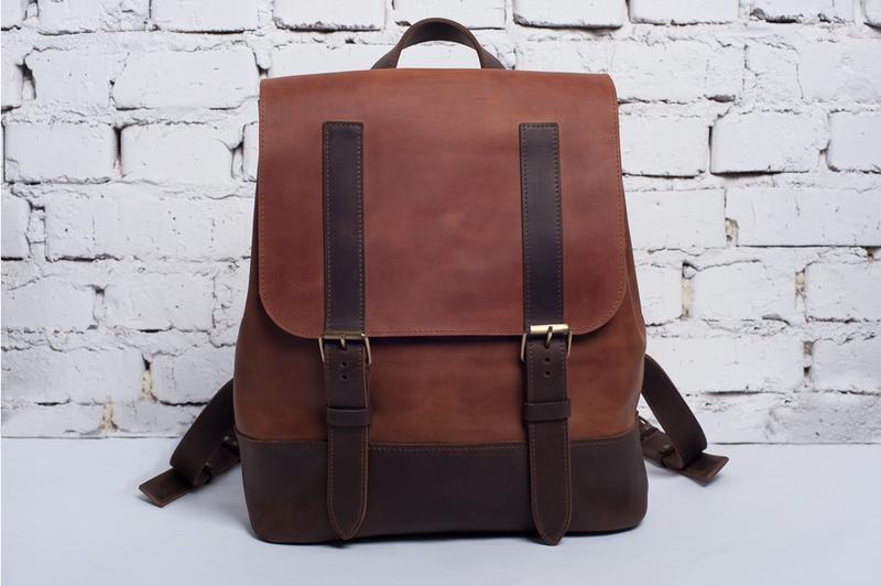bc41794a5c12 ... Практичный женский рюкзак из натуральной кожи | Кожаный портфель ручной  работы, ...