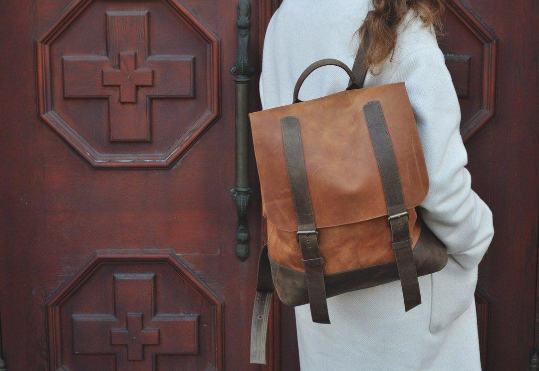 deffcb0a08b5 ... Практичный женский рюкзак из натуральной кожи | Кожаный портфель ручной  работы, фото 10