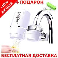 Насадка на кран для очистки воды Water Purifier Zoosen MAT CASE проточный бытовой фильтр + powerbank 2600 mAh, фото 1