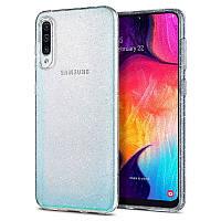 Чехол Spigen для Samsung Galaxy A50 Liquid Crystal Glitter, Crystal Quartz (611CS26441)
