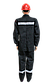 Костюм робочий чорний (діагональ) щільність 240г/м2, фото 3