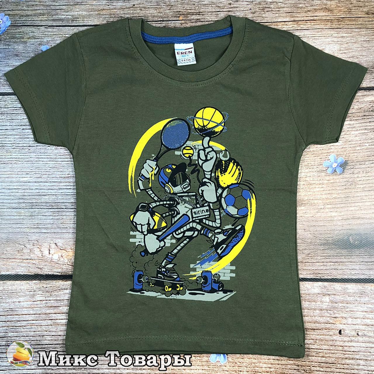 Зелёная футболка для подростков Размеры: 9-10,10-11,11-12,12-13 лет (8674-4)