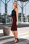 Облегающая юбка-карандаш длины миди бордовая, фото 2