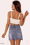 Короткая джинсовая юбка асимметрия, фото 3