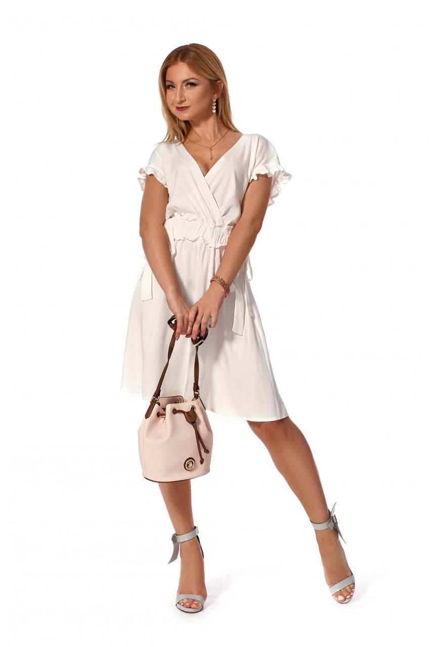 Короткое платье 1163.2 цвет белый
