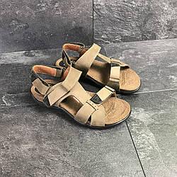 Мужские сандалии летние кожаные Антек светло-коричневые Харьков Antec Light Brown