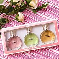 Женский подарочный набор духов Chanel Chance 3 в 1 (реплика)
