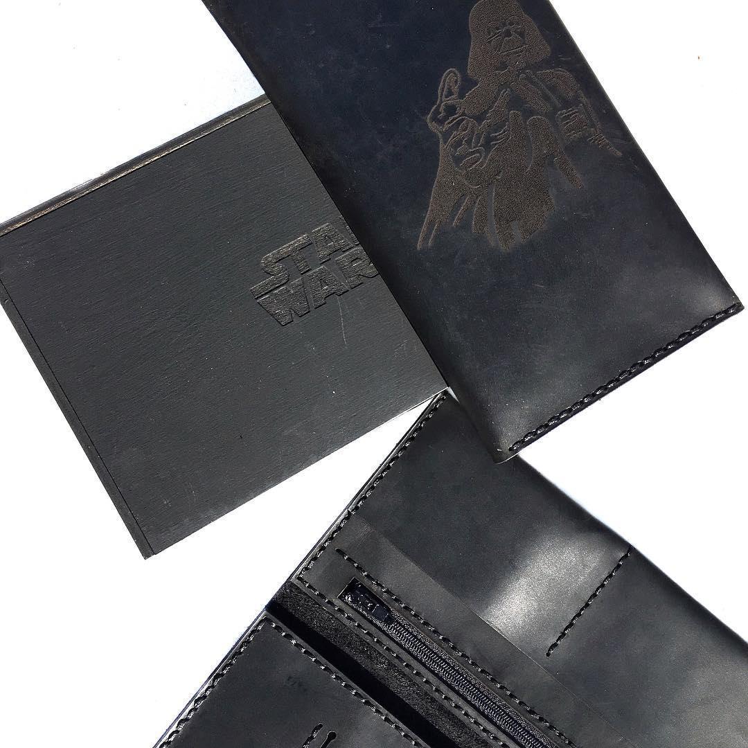 Кожаный кошелек ручной работы star wars