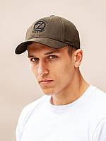 Классическая кепка мужская с изогнутым козырьком beZet Original khaki '19