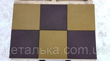 Резиновая плитка 400*400 мм. толщиной 25 мм., фото 3