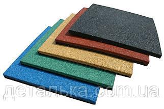 Тротуарная резиновая плитка 500*500 мм. толщиною 40 мм.