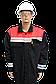 Костюм рабочий с красной кокеткой ткань саржа, фото 3