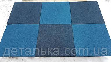 Тротуарная резиновая плитка 400*400 мм. толщиною 40 мм. , фото 3