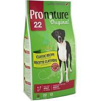 Сухой корм для собак Pronature Original (Пронатюр Ориджинал) ЯГНЕНОК ВЗРОСЛЫХ КРУПНЫХ с ягненком 12кг.