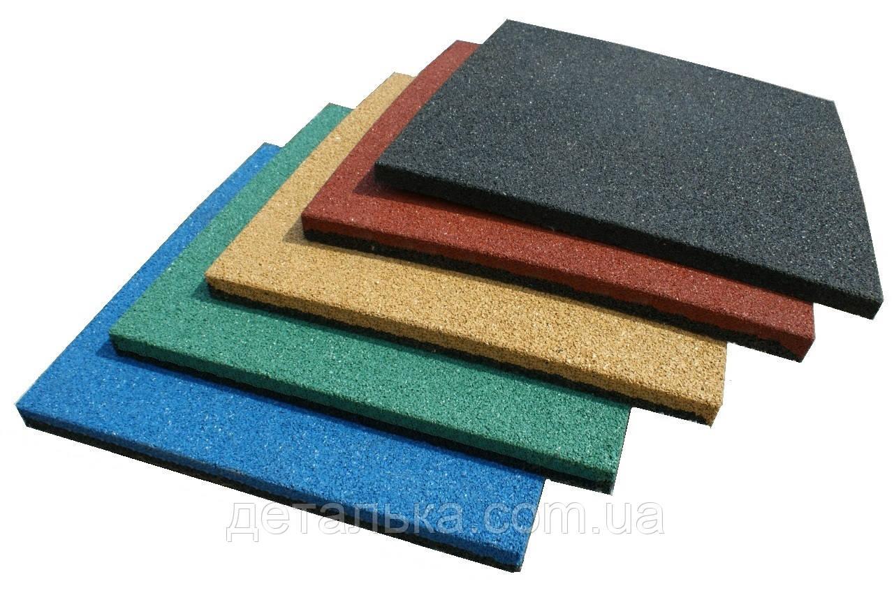 Тротуарная резиновая плитка 500*500 мм толщиной 30 мм.