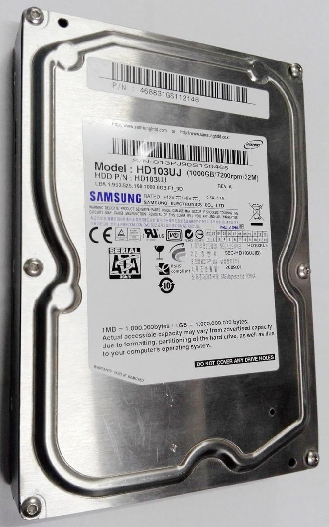 "Жесткий диск Samsung Spinpoint F1 1TB 7200rpm 32MB HD103UJ 3.5"""