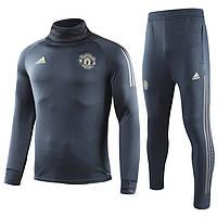 Мужской тренировочный костюм Манчестер Юнайтед, черный, размер  XL