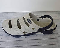 Кроксы сабо мужские супер легкие (серо-синие)