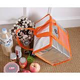 Термо сумка Сумка холодильник. Холодильна сумка + акумулятор в подарунок., фото 3