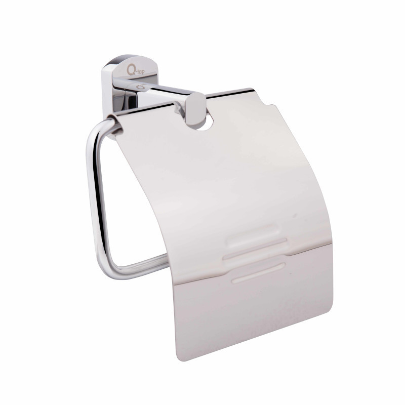 Держатель туалетной бумаги с крышкой латунь в хроме 1151