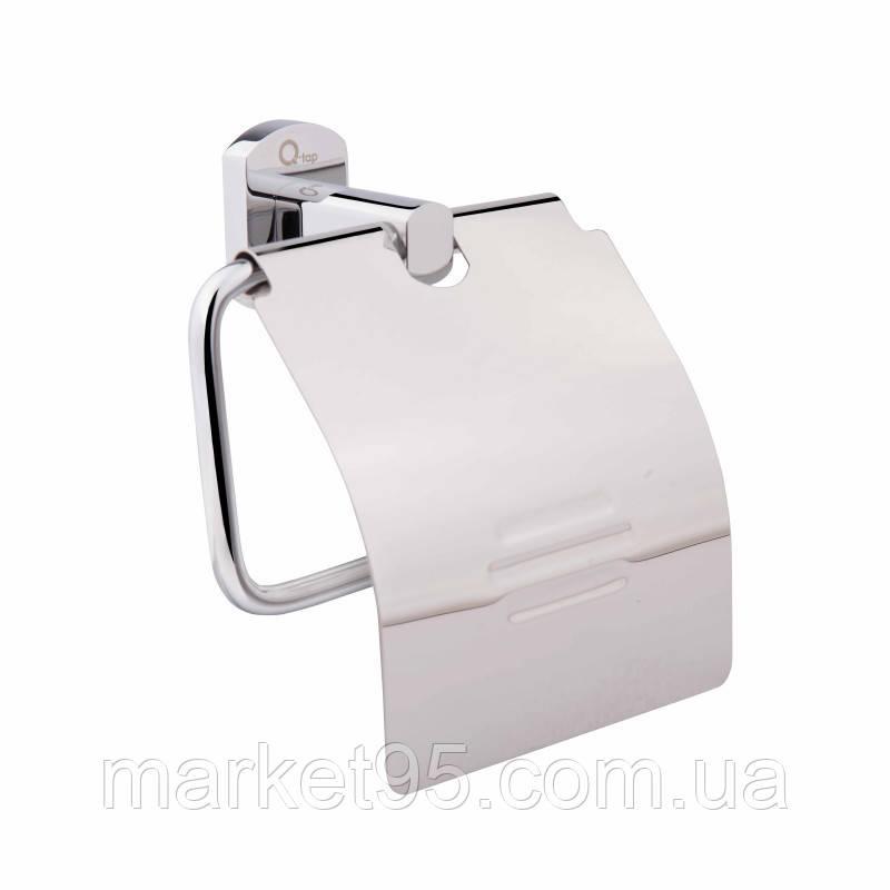 Тримач туалетного паперу з кришкою латунь в хромі 1151