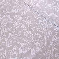 Тканина декоративна з просоченням з гілочками на бежевому фоні, ширина 150 см, фото 1