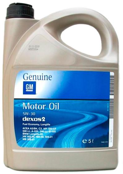 Масло моторное GM Motor Oil Dexos2 5W-30 5L