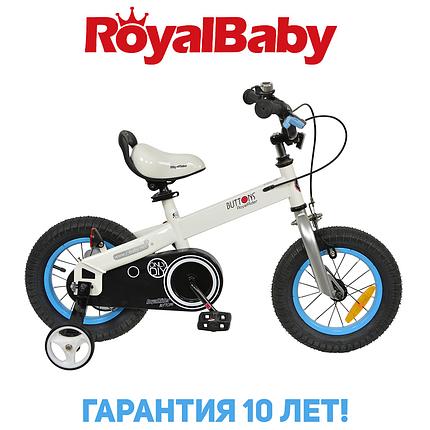 """Велосипед детский RoyalBaby BUTTONS 12"""", OFFICIAL UA, бело-синий, фото 2"""