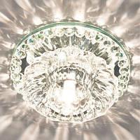 Точечный светильник с кристаллом K9 Feron JD125 прозрачный