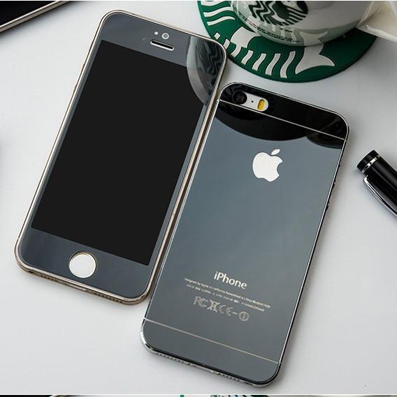 Защитное стекло 2 в 1 для Iphone 4, black
