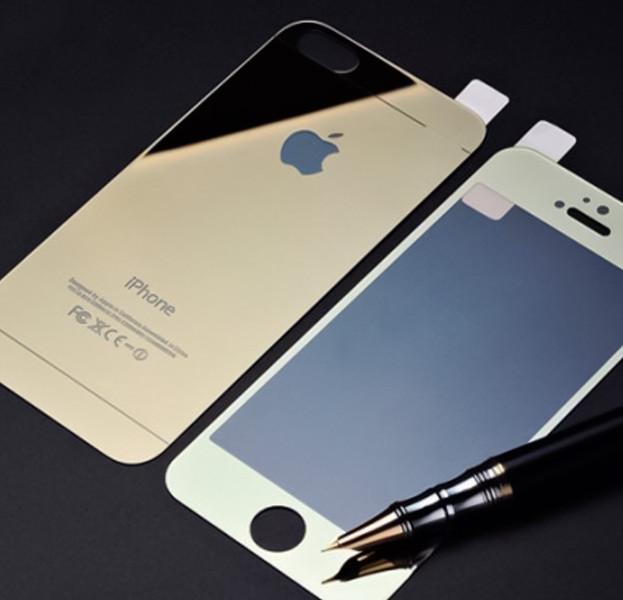 Защитное стекло 2 в 1 для Iphone 6/6s, gold