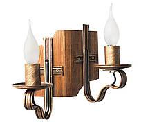 """Люстра деревянная балка  """"Адель"""" светлая полированная  на 4 лампы, фото 3"""
