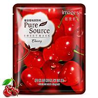 Маска-салфетка для лица с вишней увлажняющая IMAGES Pure Source Cherry (40г)
