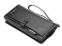 Чоловічий гаманець BAELLERRY Business Multi-Card Wallet портмоне Чорний (SUN4374)