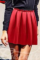 Летняя короткая юбка клеш красная