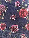 Юбка клеш из денима с цветочным принтом синяя, фото 4