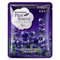 Маска-салфетка для лица с лавандой очищающая и успокаивающая IMAGES Pure Source Aspic (40г)