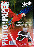 Фотобумага Magic A4 180г, A4x100, Glossy, глянец