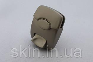 Замок клавишный для сумки, цвет - серый, артикул СК 5130