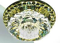 Точечный светильник с кристаллом K9 Feron JD125 жёлтый