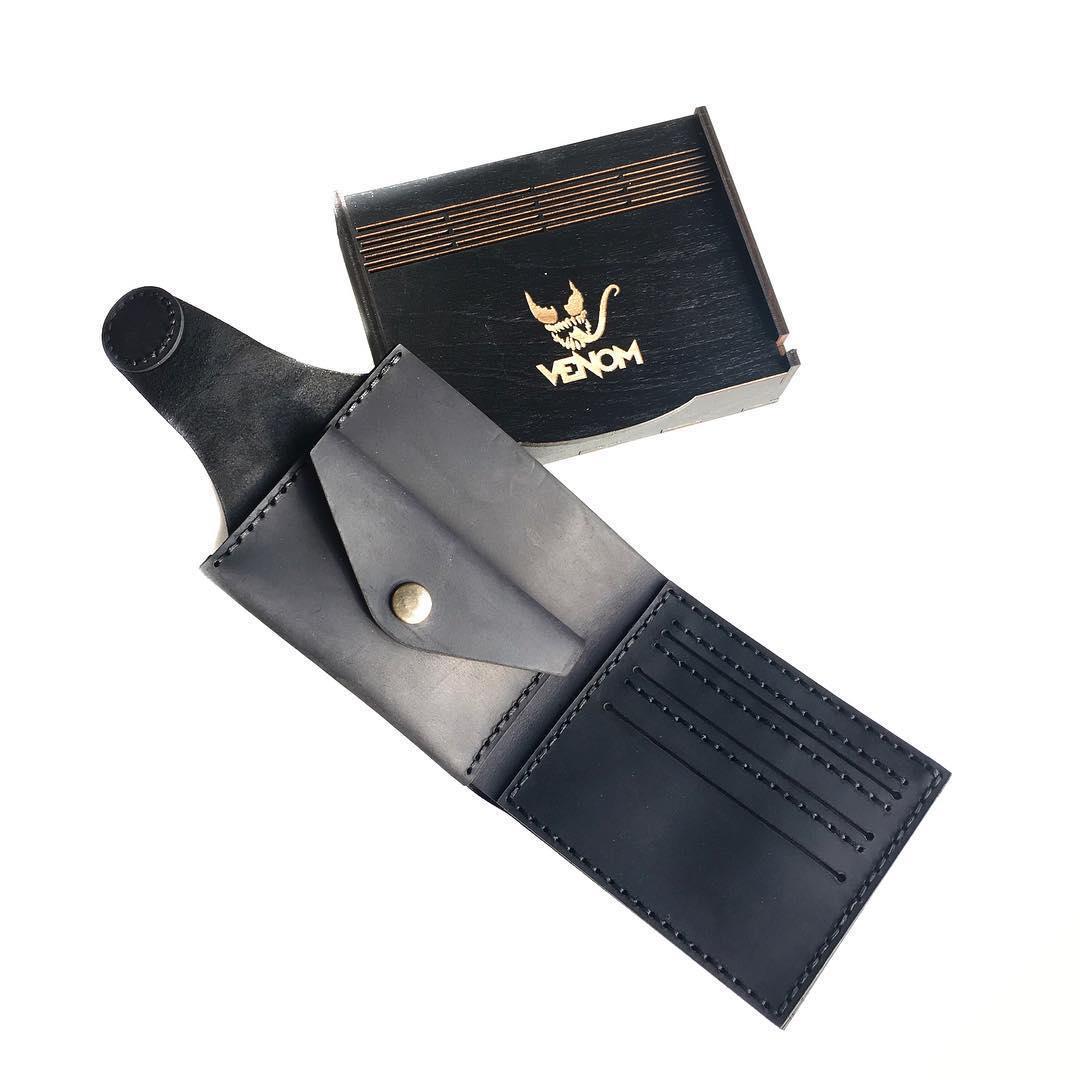 Складной кожаный портмоне