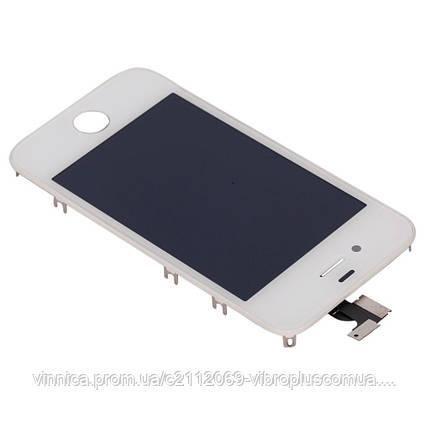 Модуль (Дисплей + сенсор + рамка) Apple iPhone 4S  white s/k, фото 2