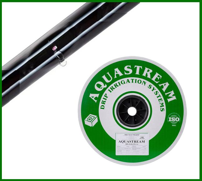 Капельная лента Aquastream ( 6 mil - 15 см - 1 л/ч - 2000 м )
